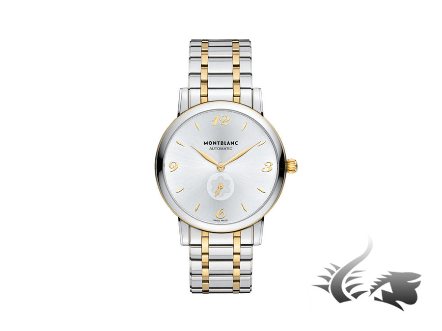 Montblanc Star Classique Automatic Watch, Gold, MB 24.08, 39mm, Silver, 107914
