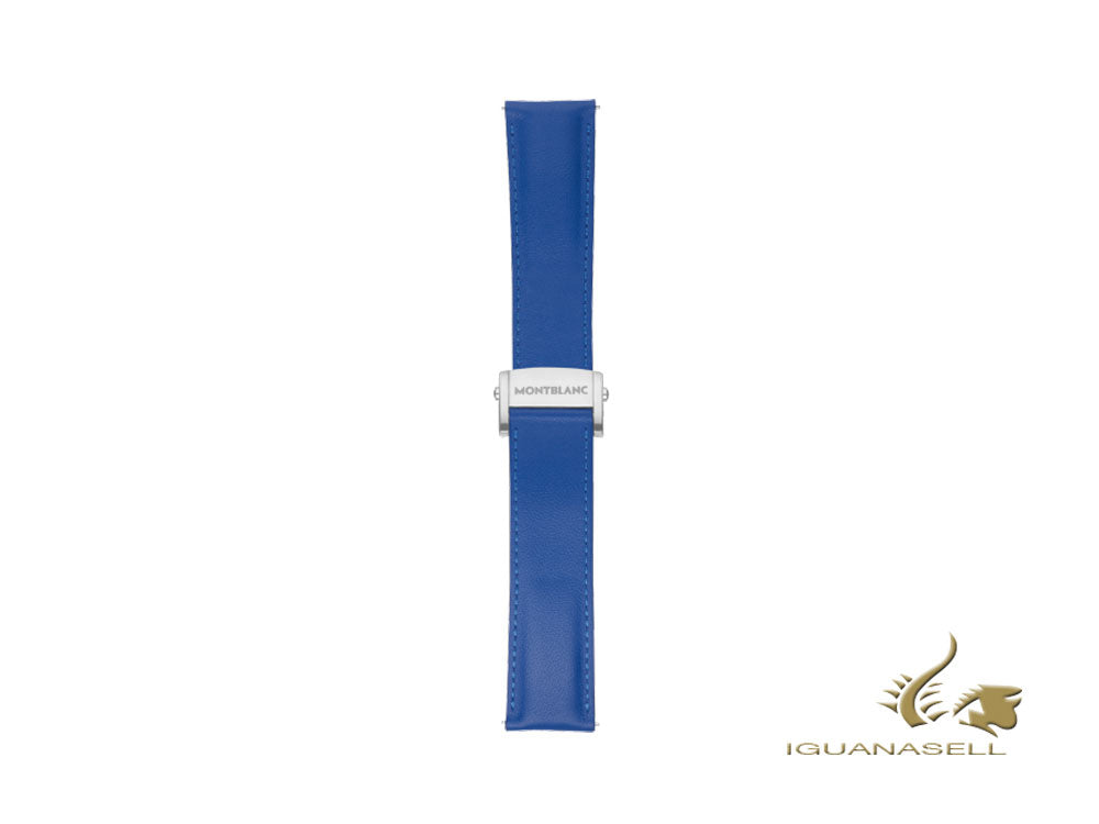 Montblanc Summit 2 Strap, Calf leather, Blue Sapphire, 22mm, 119705