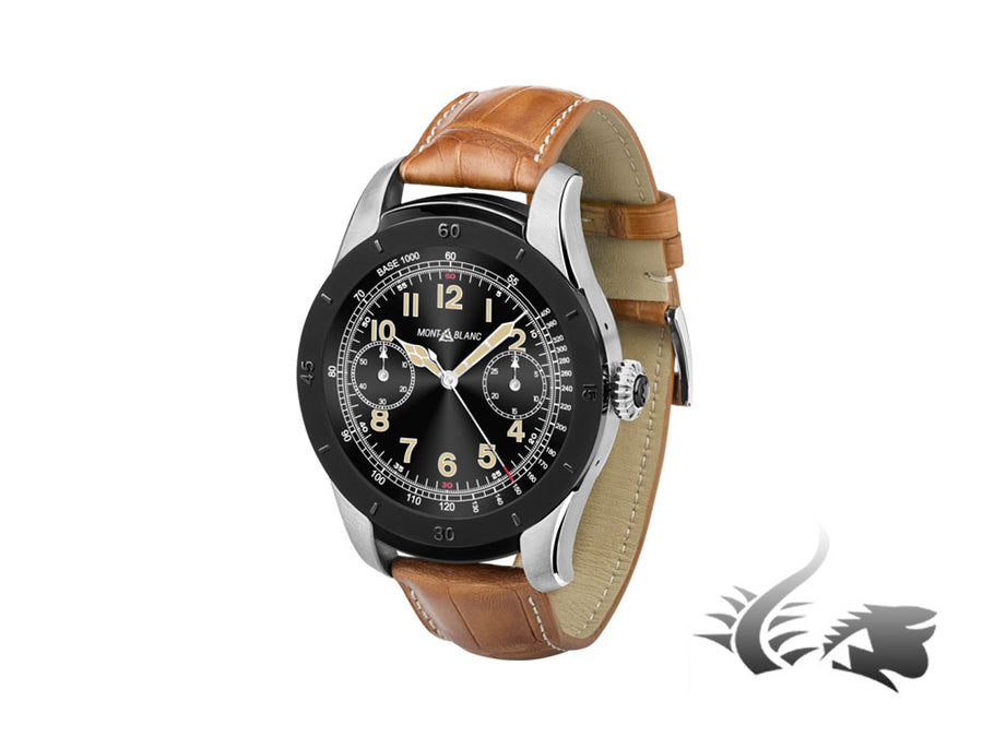 Montblanc Summit Smartwatch, 46mm, Cayman Band, Brown, 117549
