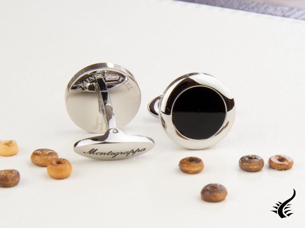 Montegrappa Classico Cufflinks, Stainless steel, IP Black, IDCCCLSB