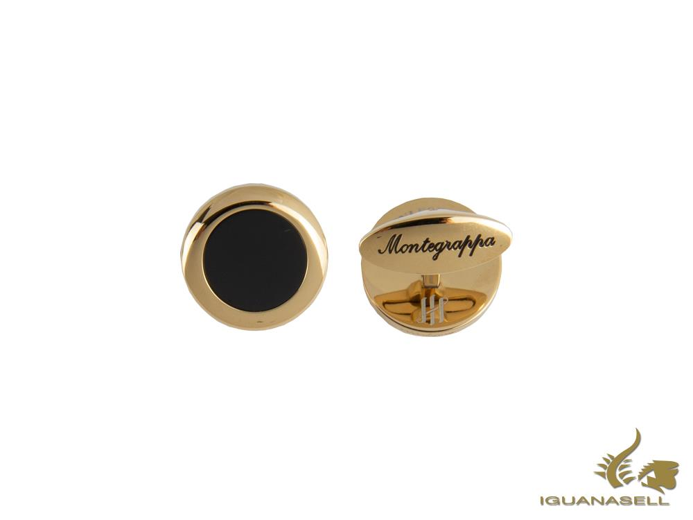 Montegrappa Classico Cufflinks, Stainless steel, IP Yellow Gold, IDCCCLYB