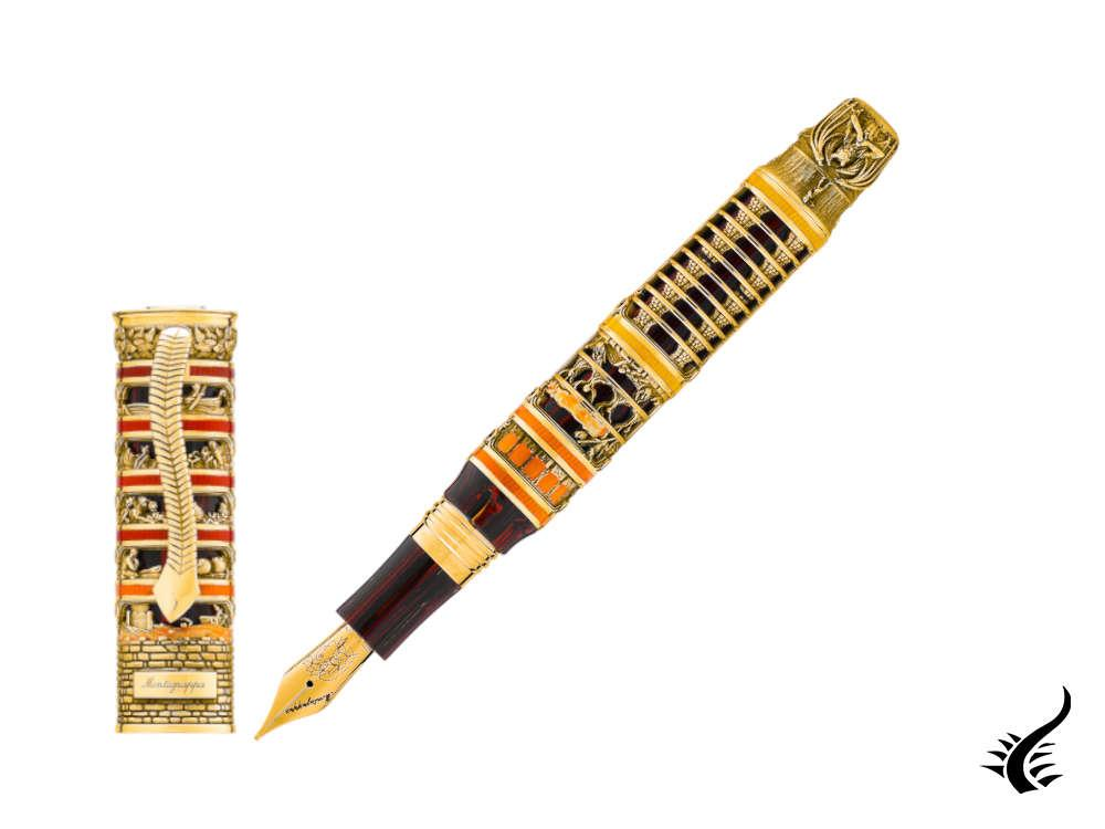 Montegrappa Dante Inferno Gold Divina Commedia Fountain Pen, ISIDN-GL