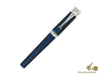 Montegrappa Desiderio Fountain Pen, Navy Blue, .925 silver trim