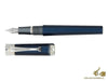 Montegrappa Desiderio Fountain Pen, Navy Blue, .925 silver trim Fountain Pen