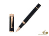 Montegrappa Ducale Rollerball pen, Black Resin, Rose gold trim, ISDURRRC