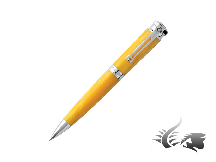 Montegrappa Emozione Mechanical pencil, Celluloid, Yellow .925 silver trim