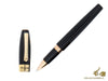 Montegrappa Fortuna Rollerball pen, Black Resin, Rose gold trim, ISFORRRC
