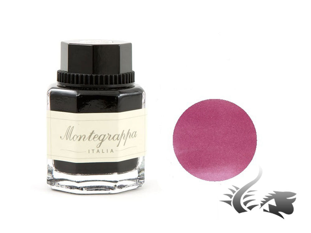 Montegrappa Ink Bottle, Burgundy, Crystal, 42ml. IA00I0UD