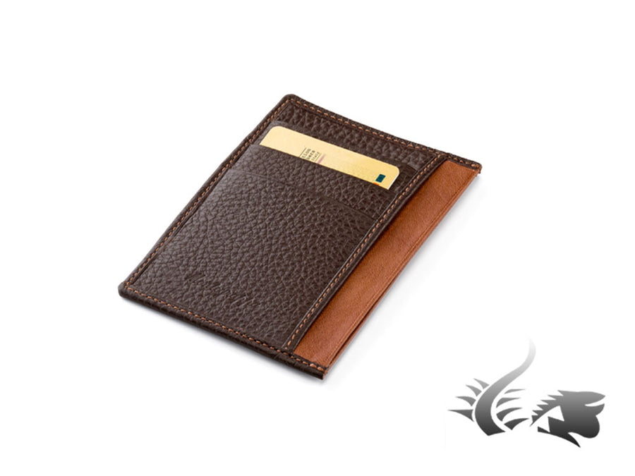 Montegrappa Leather collection Credit card holder, Leather, Brown, A.72003.MC