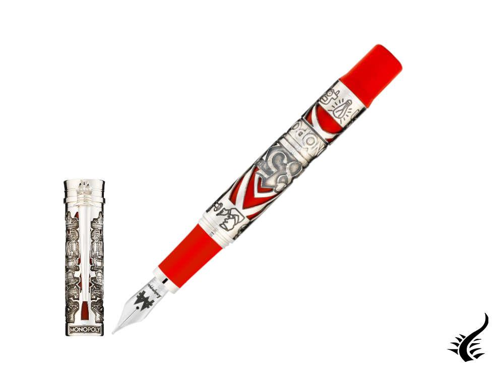 Montegrappa Monopoly 85th LE Fountain Pen, Resin, Red, ISMXA-SE