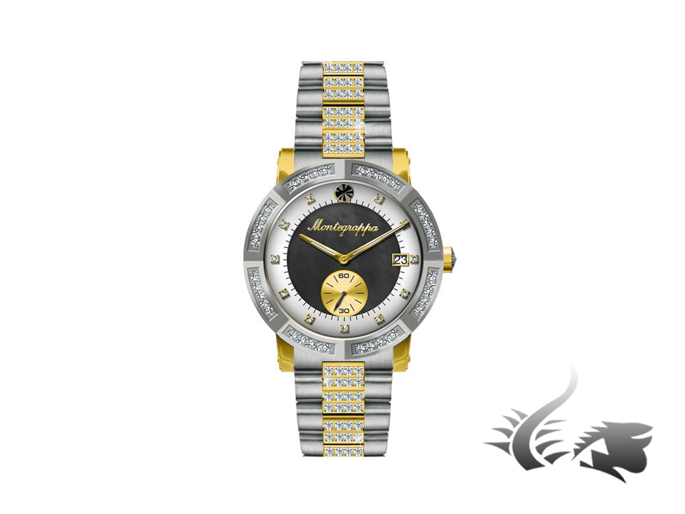 Montegrappa Nero Uno Ladies watch, Mother of pearl, Black, 36mm, IDLNWA82-Y