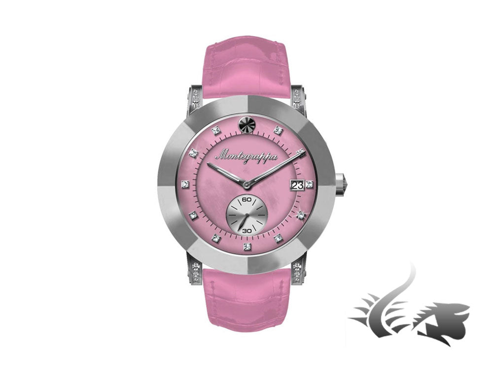 Montegrappa Nero Uno Ladies Quartz watch, Pink mother of pearl, 36mm, IDLNWA58