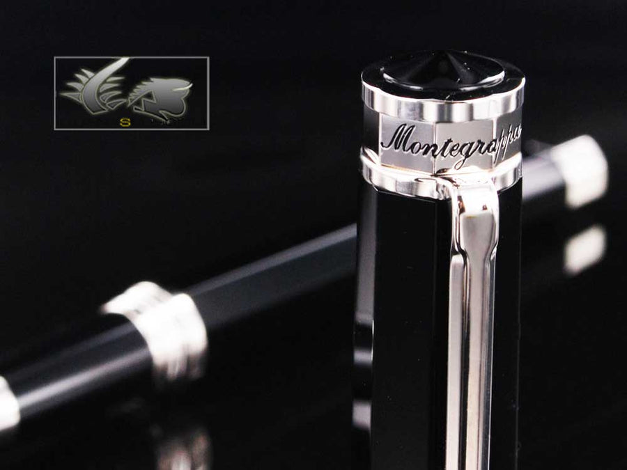 Montegrappa Nero Uno Resin & Chrome Rollerball pen