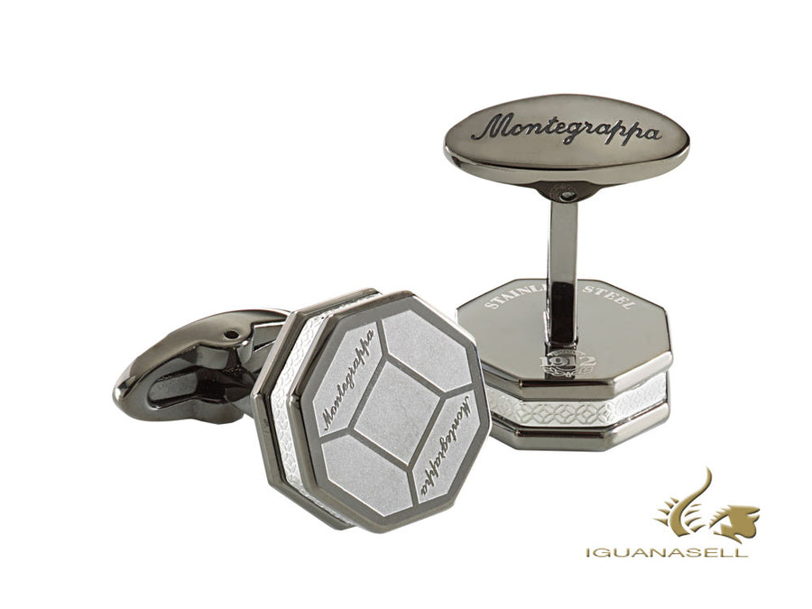 Montegrappa Tripudio Cufflinks, Stainless steel, IP Black, IDTPCLCI