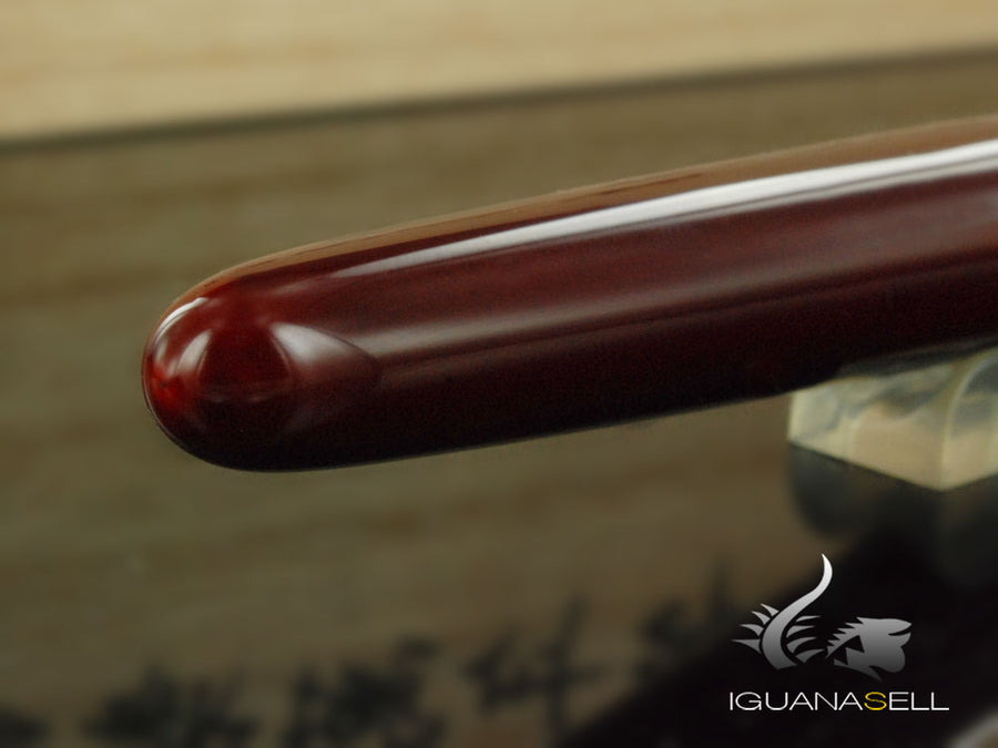 Nakaya Cigar Portable Fountain Pen, Aka-Tamenuri, Ebonite