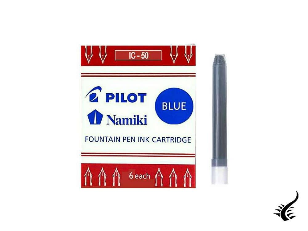 Namiki Ink cartridges, Blue, 6 units, IC-50-blue