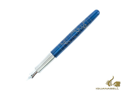 Parker Sonnet Journey Fountain Pen, Sterling Silver, Blue, Special Ed.