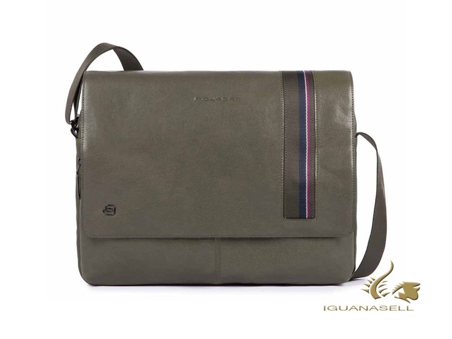 Piquadro B3S Men's bag, Leather, Neoprene, Green, Magnet, CA4639B3S/VE