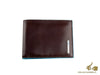 Piquadro Blue Square Wallet, Leather, Brown, 12 cards, PU1241B2/MO