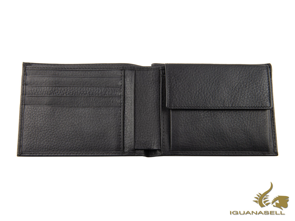 Piquadro Modus Wallet, Leather, Black, 4 Cards, Coin case, PU257MO/N