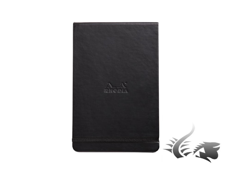 Rhodia Ice Notepad, A5, Hard cover, Dotted, Black, 192 pages, 118379C