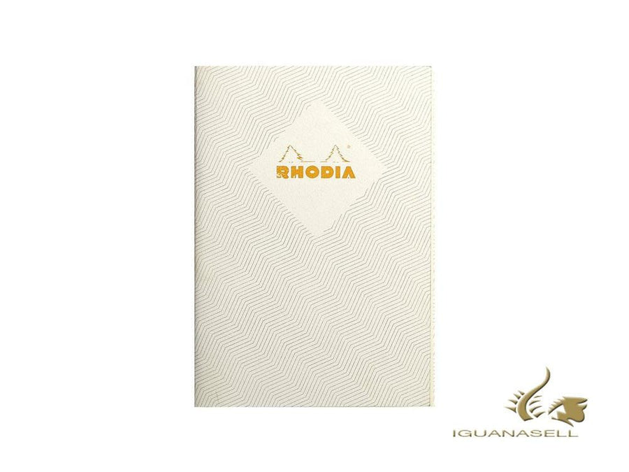 Rhodia Heritage Chevrons Notebook, A5, Soft cover, Squared, White, 64 pages