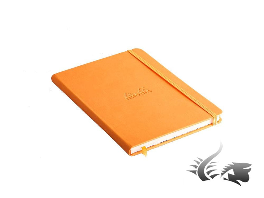 Rhodia - Rhodiarama Notebook, A5, Hard cover, Plain, Orange, 192 pages, 118735C