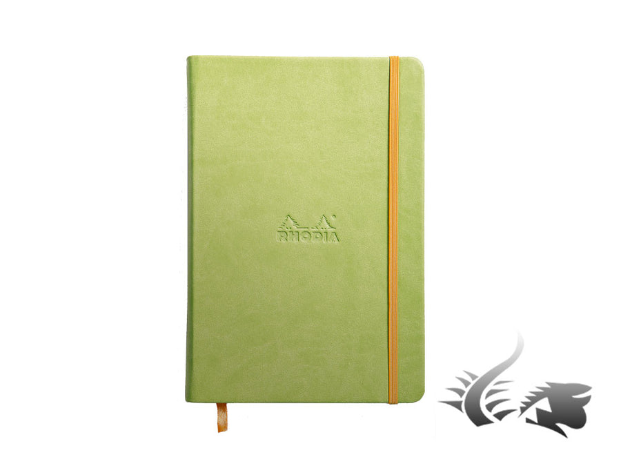 Rhodia - Rhodiarama Notebook, A5, Hard cover, Ruled, Green, 192 pages, 118746C