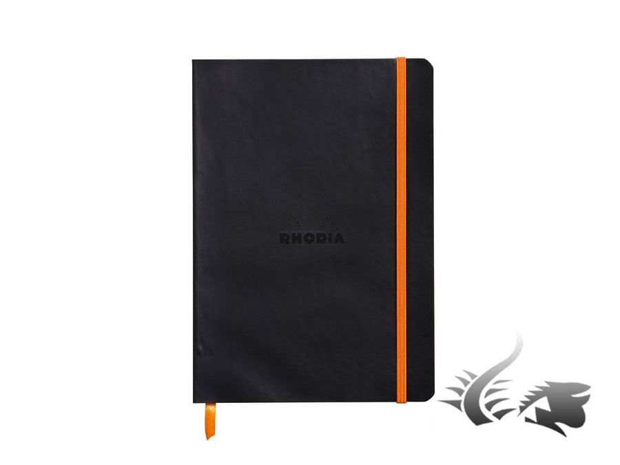 Rhodia - Rhodiarama Notebook, A5, Soft cover, Dotted, Black, 160 pages, 117452C