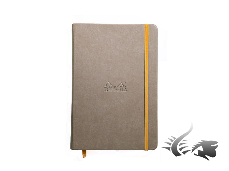 Rhodia - Rhodiarama Notebook, A5, Hard cover, Ruled, Brown, 192 pages, 118744C