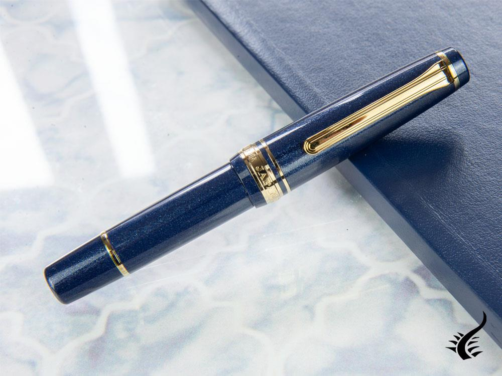 Sailor Pro Gear Slim Mini Night Blue Fountain Pen, Gold, 11-1503-342