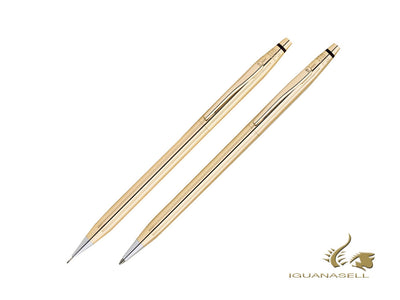 Cross Classic Century Ballpoint pen & Pencil Set, Gold 18k, Gold, Polished