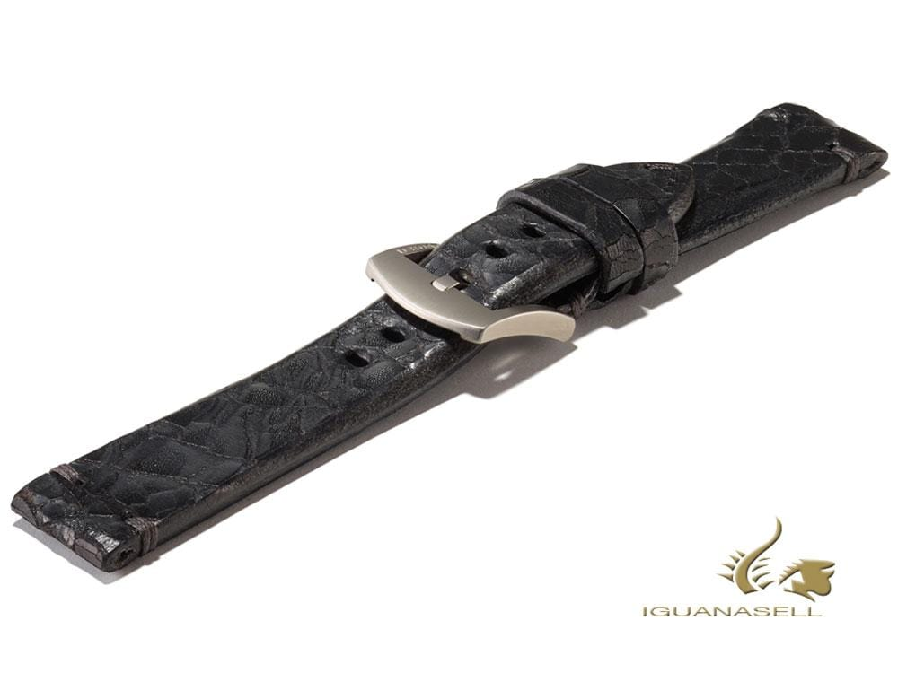 U-Boat Accesorios Strap, Leather, Cotton, Black, 20 mm., Stainless Steel, 4682 Strap