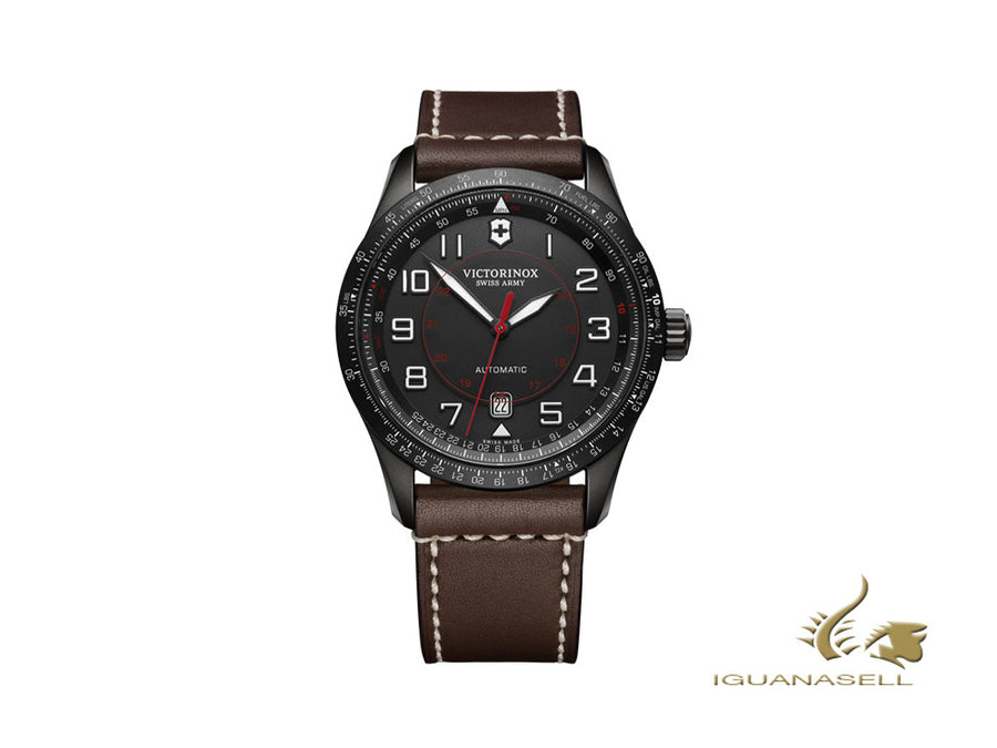 Victorinox Airboss Automatic Watch, Stainless Steel, PVD, Black, 42 mm, V241821