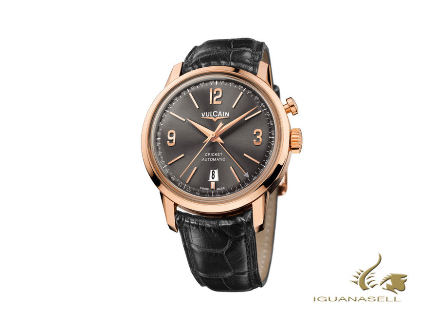 Vulcain 50s Presidents Tradition Automatic Watch, V-21, Pink Gold, 210550.280L