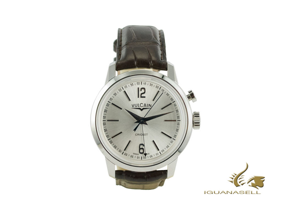Vulcain 50s Presidents Tradition Manual Watch, V-10, Silver, 39mm, 100153.295L