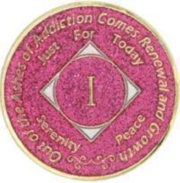 Narcotics Anonymous Medallion 1-40 Years NA Chip Green NA Coins Recovery Coins