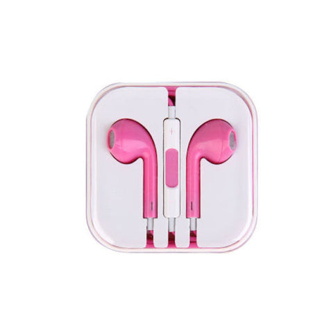iPhone 5 Style Headphones for iPhone iPad iPod Tablet Laptop Pink