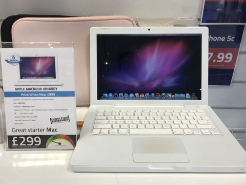 Apple Macbook 13-inch: 2.4GHz 2GB 160GB NVIDIA GeForce 9400M