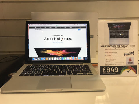Apple Macbook Pro 13-inch: Retina 2.6GHz 2013 with 128GB SSD