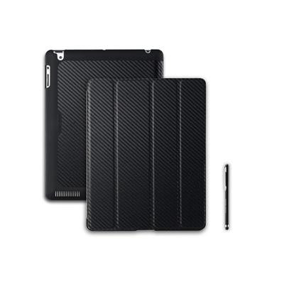 Cooler Master Wake Up Folio Carbon Texture Edition with Magnetic Stylus for iPad 2/ 3/ 4 Midnight Black