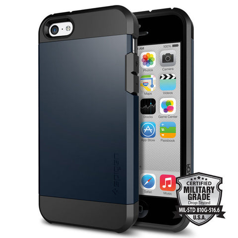 Spigen iPhone 5C Case Tough Armor (Metal Slate)