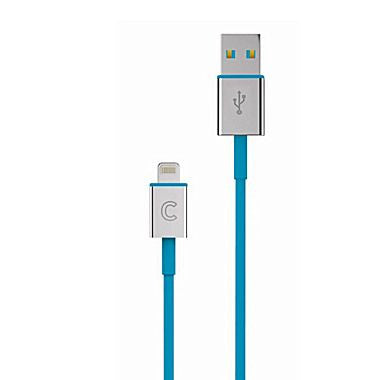 Candywirez® iPhone 5' VRS 3 Lightning to USB Sync/Charge Cable, Aqua