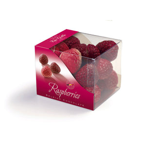 Cube Raspberries - Belgian chocolate by Pralineur Van Coillie