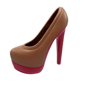"Chocolate Pump ""Louboutin"" - Belgian chocolate by Pralineur Van Coillie"