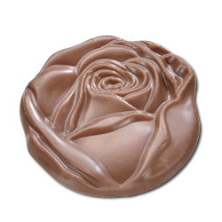 Chocolate Caraques flowers - Belgian chocolate by Pralineur Van Coillie