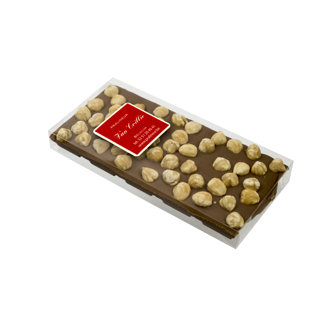 Chocolate Tablet with nuts - Belgian chocolate by Pralineur Van Coillie