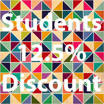 We offer students 12.5% off our fabrics and Wallpapers