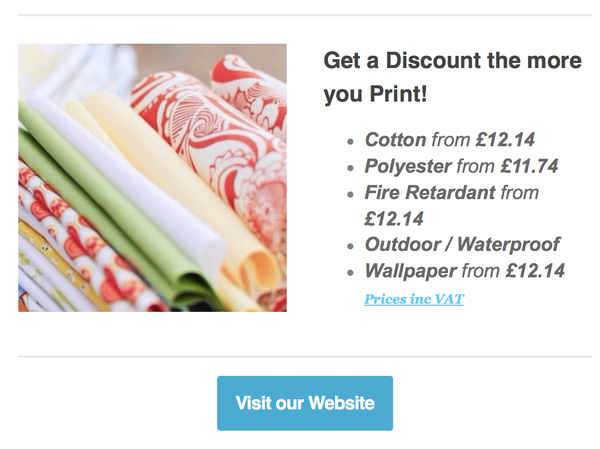WOW!! All Prices Reduced - Print your own fabric or wallpaper