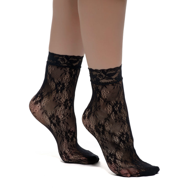 Romantic Patterned Fishnet Socks Samara
